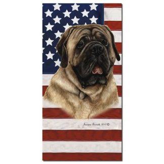 Mastiff Beach Towel - Patriotic (Fawn)