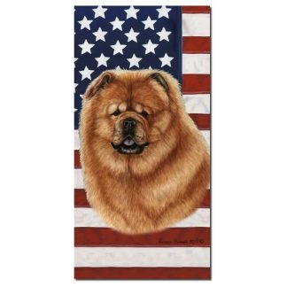 Chow Chow Beach Towel - Patriotic