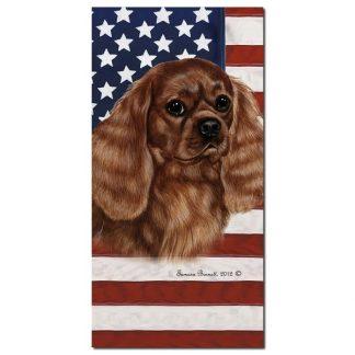 Ruby Cavalier Spaniel  Beach Towel - Patriotic
