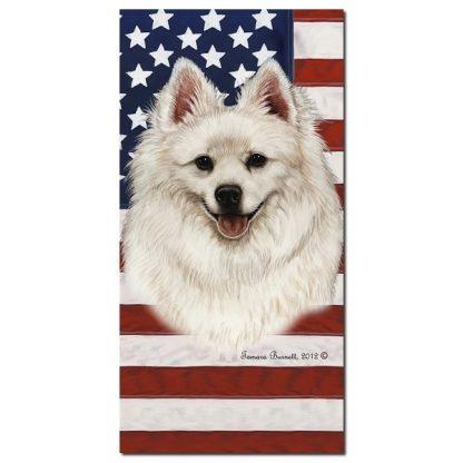 American Eskimo Beach Towel - Patriotic