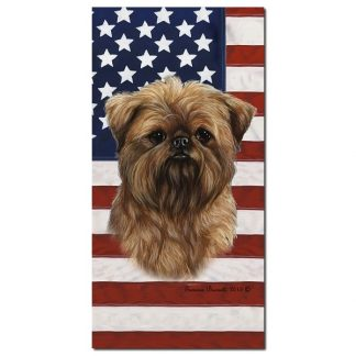 Brussels Griffon Beach Towel - Patriotic