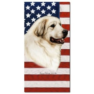 Great Pyrenees Beach Towel - Patriotic