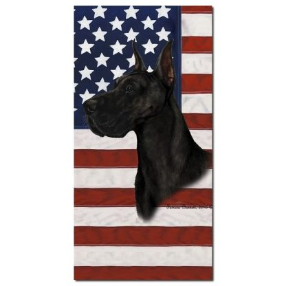 Great Dane Beach Towel - Patriotic (Black)