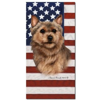 Norwich Terrier Beach Towel - Patriotic