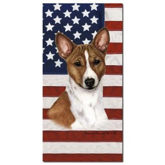 Basenji Beach Towel - Patriotic