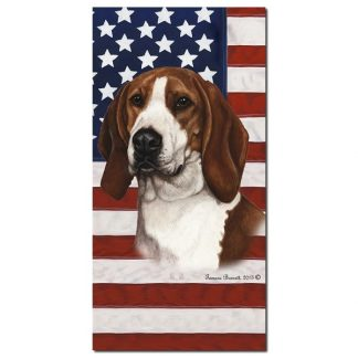 Coonhound Beach Towel - Patriotic (Treeing Walker)