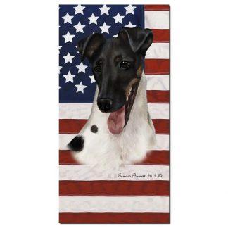 Smooth Fox Terrier Beach Towel - Patriotic (Tri)
