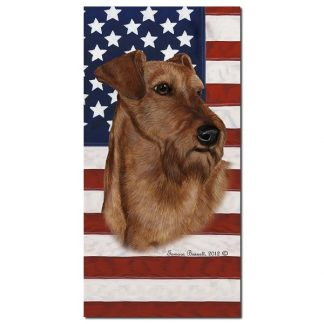 Irish Terrier Beach Towel - Patriotic