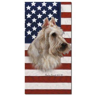 Scottish Terrier Beach Towel - Patriotic (Wheaten)