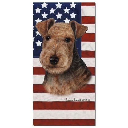 Lakeland Terrier Beach Towel - Patriotic