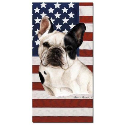 French Bulldog Beach Towel - Patriotic (Pied)