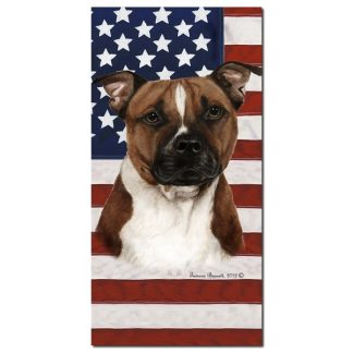 Pitbull Terrier Beach Towel - Patriotic