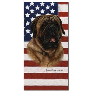 Mastiff Beach Towel - Patriotic (Red)