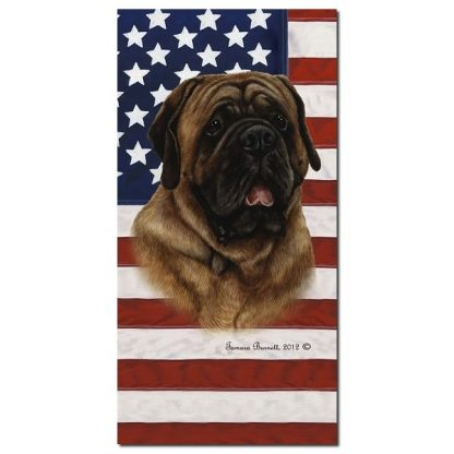 Mastiff Beach Towel - Patriotic (Red)