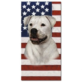 American Bulldog Beach Towel - Patriotic