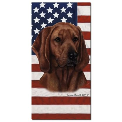 Coonhound Beach Towel - Patriotic (Redbone)