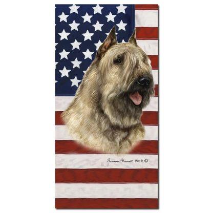 Bouvier Beach Towel - Patriotic (Fawn)
