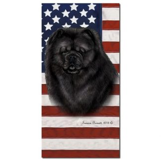 Chow Chow Beach Towel - Patriotic (Black)