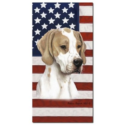 Pointer Beach Towel - Patriotic (Lemon)