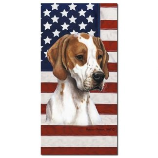 Pointer Beach Towel - Patriotic (Red)