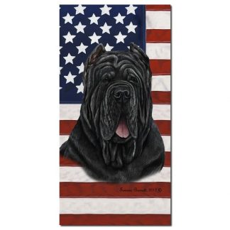 Neapolitan Mastiff Beach Towel - Patriotic (Cropped)