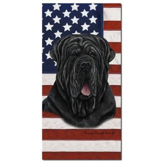 Neapolitan Mastiff Beach Towel - Patriotic (Uncropped)