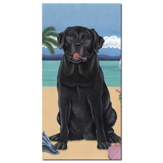 Black Lab Beach Towel - Summer
