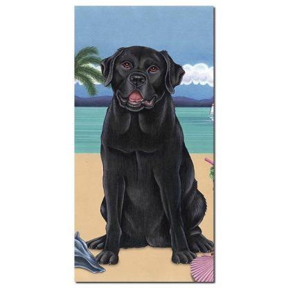 Black Lab Beach Towel - Summer