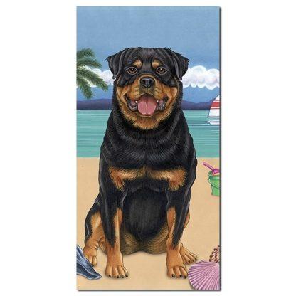 Rottweiler Beach Towel - Summer