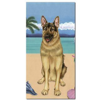 German Shepherd Beach Towel - Summer