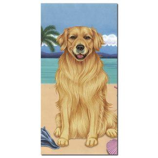 Golden Retriever Beach Towel - Summer