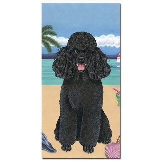 Black Poodle Beach Towel - Summer