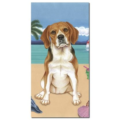 Beagle Beach Towel - Summer