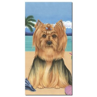 Yorkshire Terrier Beach Towel II - Summer