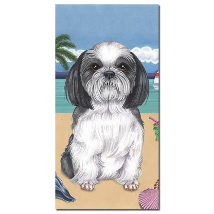 Shih Tzu Beach Towel - Summer