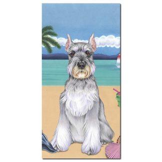 Schnauzer Beach Towel - Summer