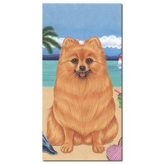 Pomeranian Beach Towel - Summer