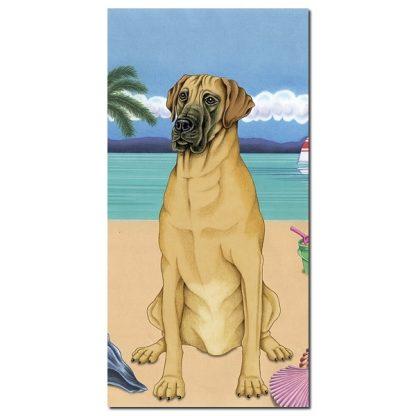 Great Dane Beach Towel - Summer