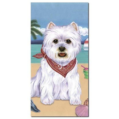 West Highland Terrier Beach Towel - Summer