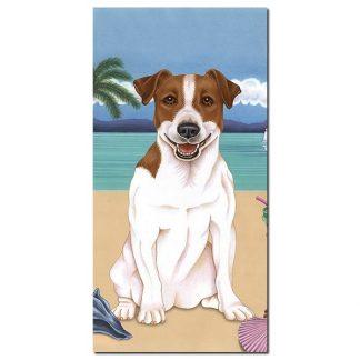 Jack Russell Terrier Beach Towel - Summer