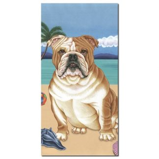 Bulldog Beach Towel - Summer