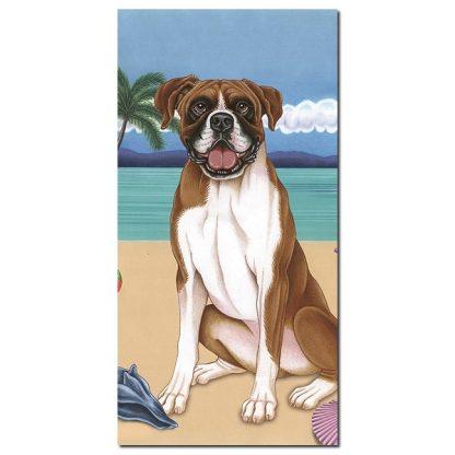 Boxer Beach Towel - Summer