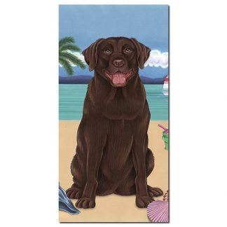 Chocolate Lab Beach Towel - Summer