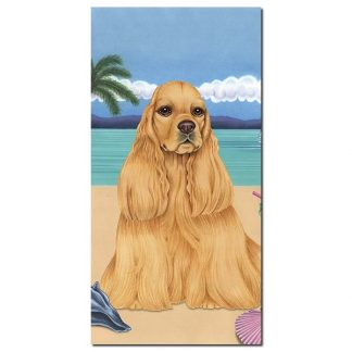 Cocker Spaniel Beach Towel - Summer