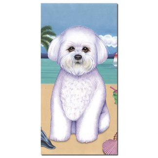 Bichon Frise Beach Towel - Summer
