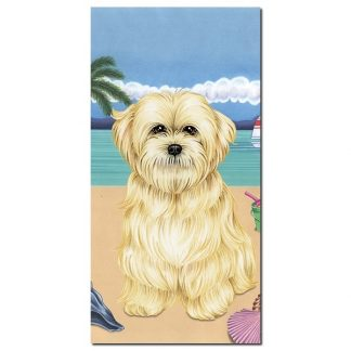 Lhasa Apso Beach Towel - Summer