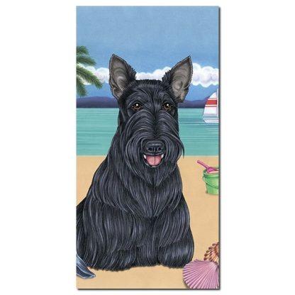 Scottish Terrier Beach Towel - Summer