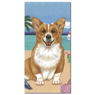 Corgi Beach Towel - Summer