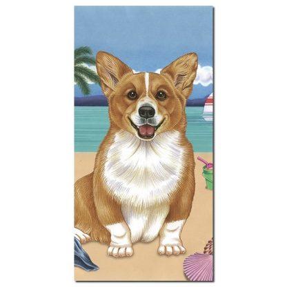 Corgi Beach Towel - Summer