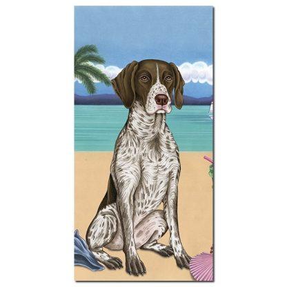 German Shorthair Pointer Beach Towel - Summer